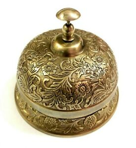 Brass Frog Style Ornate Hotel Front Desk Bell Vintage Sale Service Counter Bell
