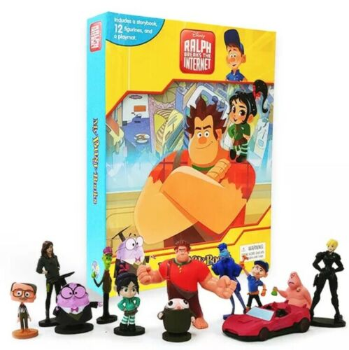Wreck It Ralph Breaks The Internet My Busy Book /& 12 Figurines /& Playmat Topper