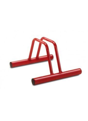 1001 F con tappi Portabici a terra 1 posto verniciato rosso abbinabile ART