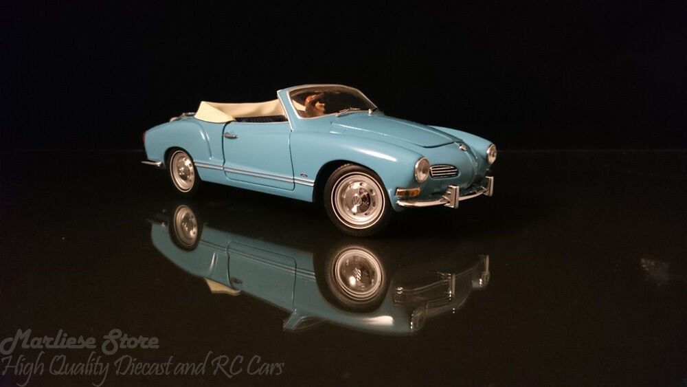 Very Rare Paul's Model Art 1 24 1967 Volkswagen Karmen Ghia bleu Cabrioet w  Fig