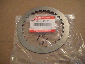 SUZUKI RM125 METAL CLUTCH PLATE 97-2000 NOS!