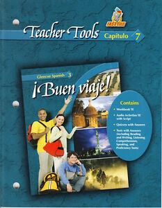 Glencoe Spanish 3 Buen Viaje Teacher Tools Capitulo 7 New