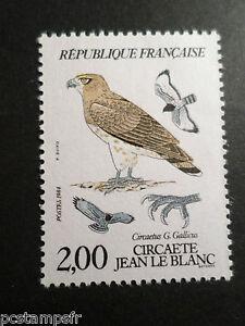 FRANCIA-1984-francobollo-2338-UCCELLI-RAPACES-CIRCAETE-MNH-BIRD-STAMP