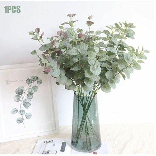 1pcs Faux Silk Artificial Fake Eucalyptus Plant Green Leaves Home Party Decor