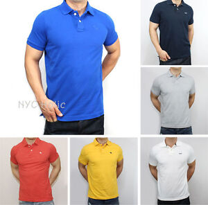 NWT Abercrombie   Fitch by Hollister Mens Polo T Shirt Muscle Fit ... 8ae21d0cbfef6