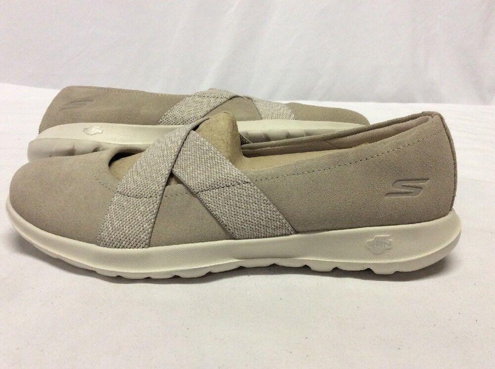 SKECHERS GOGA MAT Femme Chaussures,  Oatmeal Suede