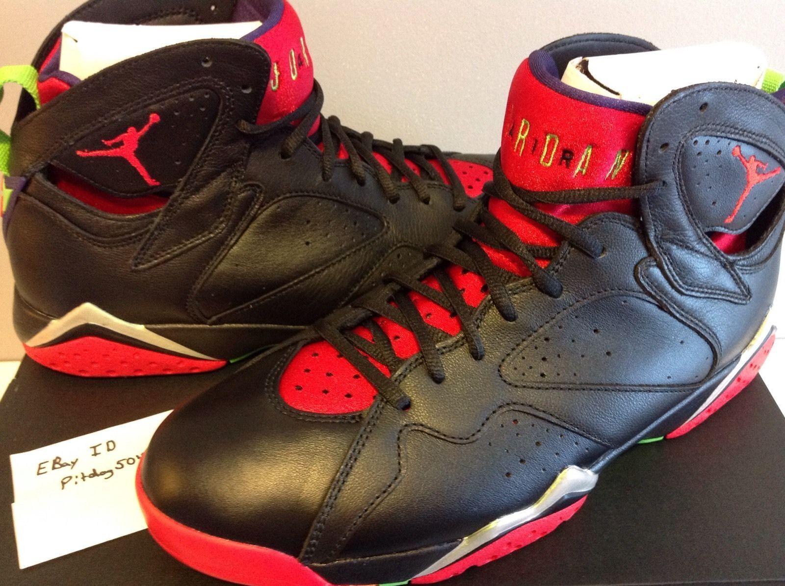 Nike Air Jordan VII Retro 7 Marvin Martian Black Red 9.5 with receipt 304775-029