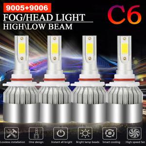 Combo-9005-9006-Total-3000W-450000LM-CREE-LED-Headlight-Hi-Low-Beam-6000K-White