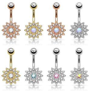 Piercing-de-Ombligo-Joyeria-Banano-Helado-flores-CIRCONIO-STRASS-Cristales