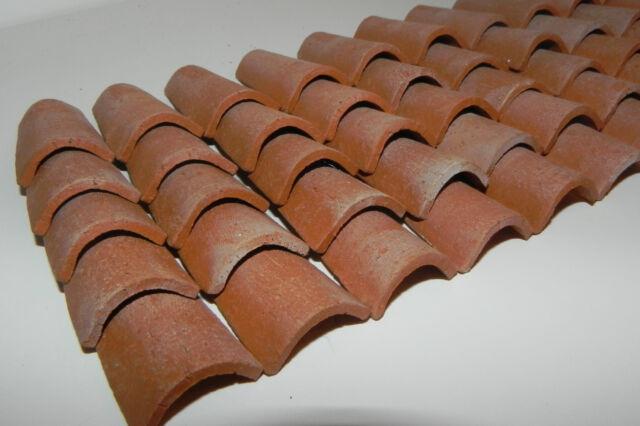 Dollhouse Miniature Floor Tiles Buff Color Clay Material 50 Pieces Pellegrini