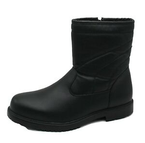 Mens Dressy Comfortable Classic Fur-Lined Insultated Waterproof Boots All Weather