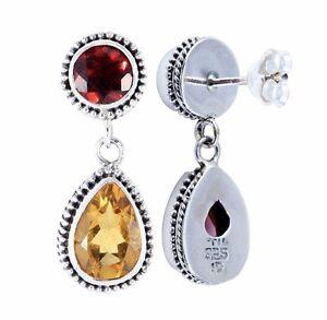 BaliBeauti-Genuine-Dual-Stone-Pear-Shaped-Sterling-Silver-Earrings