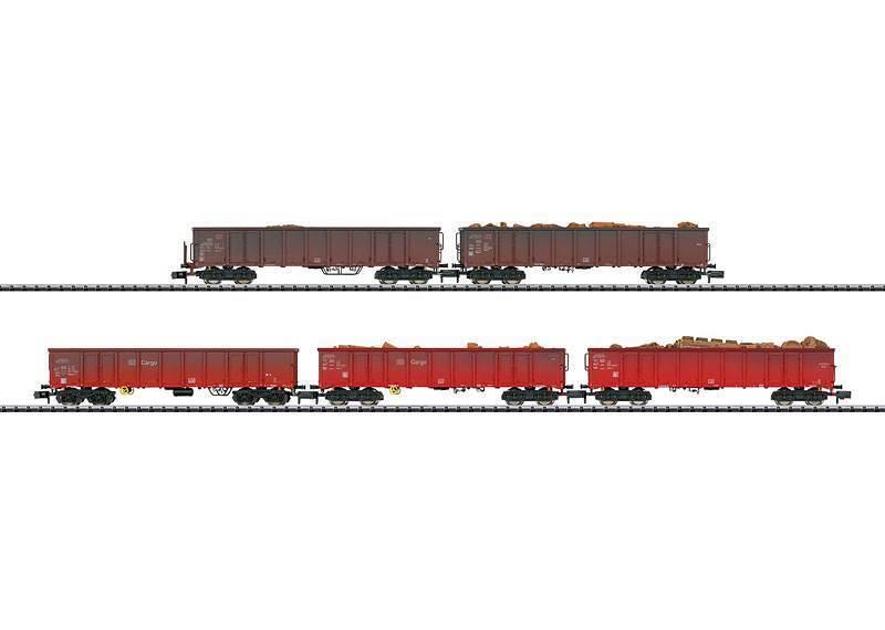 Minitrix 15993 Vagón de Mercancías Set  Schrojottransport  5 Piezas - Nuevo