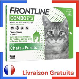 FRONTLINE Combo - Anti Puces et Anti Tiques Pour Chat Traitement - 3 Pipettes