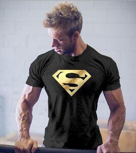 Men-Gym-S-Logo-Bodybuilding-Cotton-Muscle-Training-Workout-Stringer-T-shirt-Tee