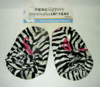 Spa Slippers Thermal Gel Beads In Zebra Design By Soothera Health & Wellness