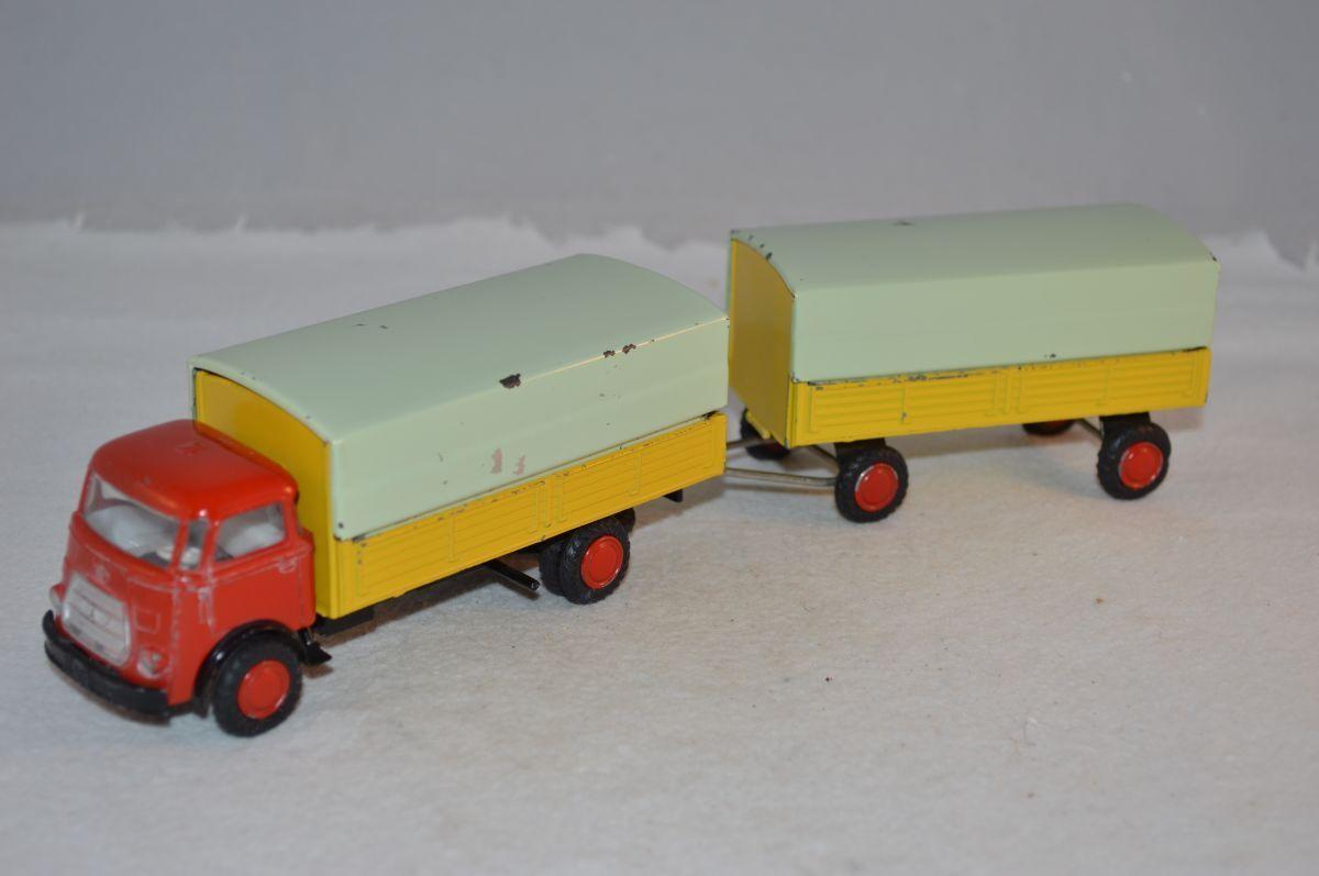 Lion Car Daf frontstuur truck with trailer excellent plus condition rare selten