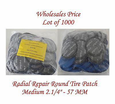 """100 Pieces Radial Repair Round Tire Patch Medium 2.1//4/"""" 57 MM Superior Quality"""