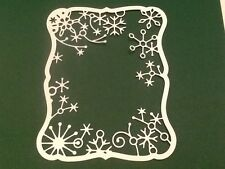 10 x Memory Box die cuts FROSTYVILLE  FRAME ***FREE UK POSTAGE***