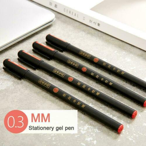 Black Office Stationery Gel Pen Scrapbooking Diary Writing Q0U7