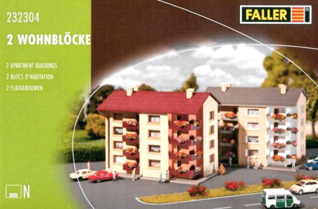 Faller 232304 Wohnblöcke 2 Stück