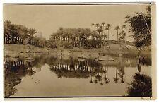 Egypt OASE PALM TREES MIRRORING / PALMEN OASE SPIEGELUNG * Vintage 10s Photo PC