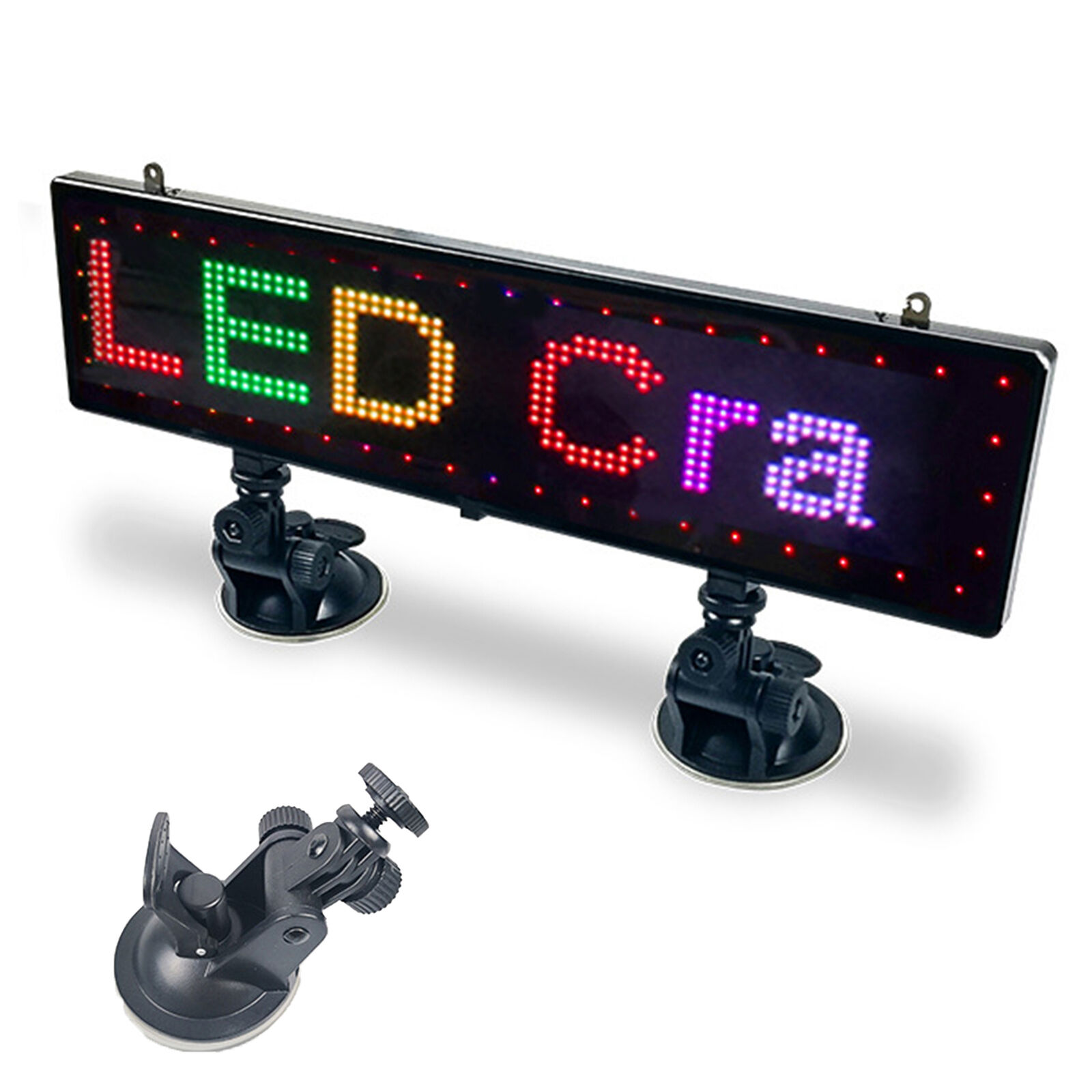 Ultra-thin LED Car Sign Programmable Scrolling Message Display Board With Sucker