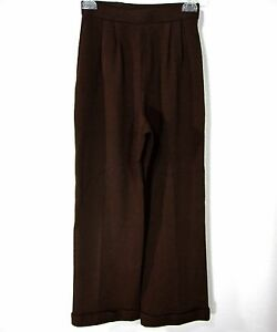 ST-JOHN-COLLECTION-BY-MARIE-GRAY-SANTANA-KNIT-CASUAL-PANTS-SIZE-0-SOLID-BROWN