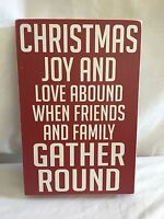 Classic Christmas Holiday Decor Mantle Table Wall Decoration Sign/plaque