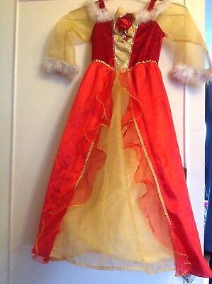 ** ** Disney Belle Costume Da Principessa, 5-7 Anni In Ottime Condizioni-mostra Il Titolo Originale