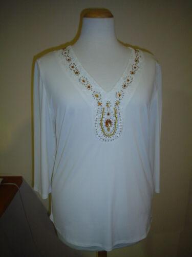 Shirt Perlen Extravagant 48 Größen Bluse Mit Tunika Gr Große Creme Damen 5HwYq5Ft
