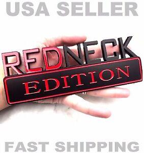REDNECK EDITION EMBLEM dodge TRUCK car logo ornament DECAL sign BLACK badge .tr