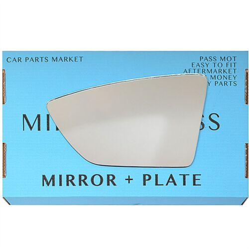 Left Passenger side wing mirror glass for Seat Ibiza 2017-On plate
