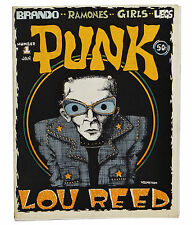 PUNK Magazine Issue Number 1 1976 ~ John Holmstrom ~ LOU REED ~ Ramones First #1