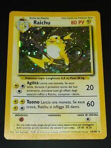 RAICHU – HOLO - 14/102 – SET BASE – ITA - POKEMON