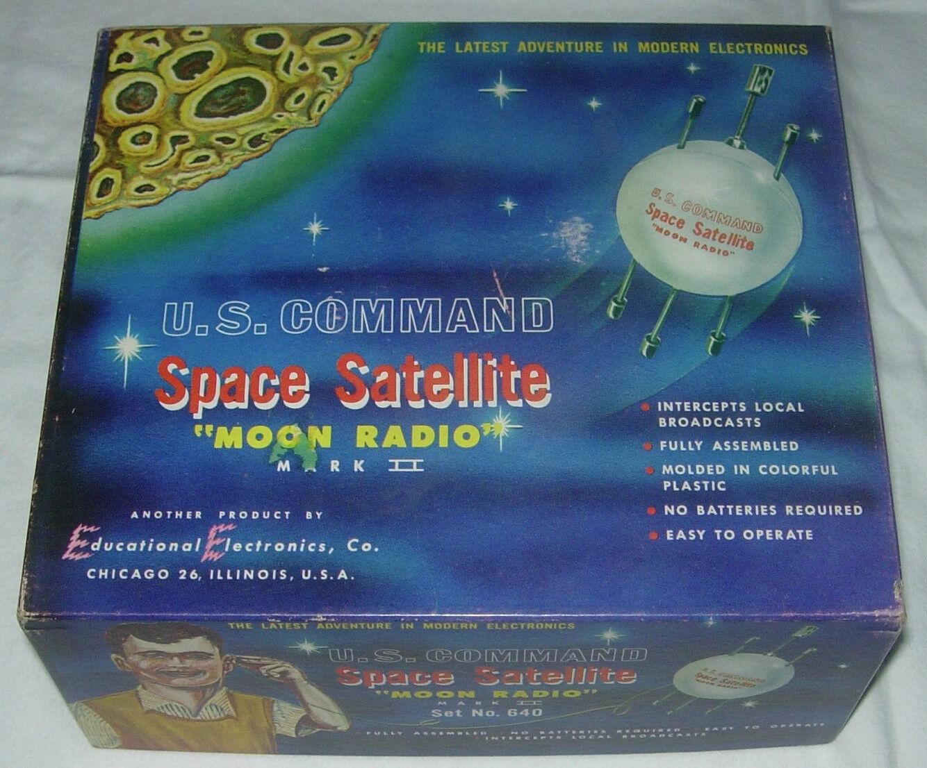 Comando S. U. Satélite Espacial Luna Radio Marca 2 Set N ° 640 En Caja C. 1960