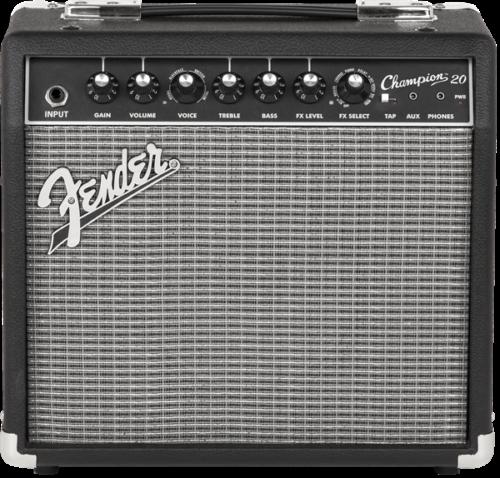 Fender Champion 20 20-Watt Electric Guitar Amplifier - Black