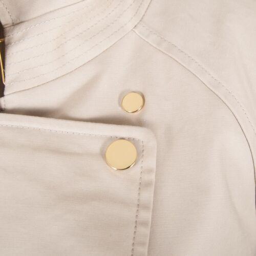 Khaki Beige 148 2 Lafayette Tan Jacket Spandex Swing Bomuld Snap M Lukkestørrelse wfIxRRqt7