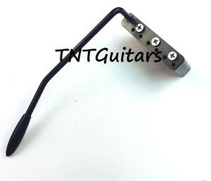 dragonfire strat tremolo steel trem block w black arm fits mim