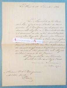 Lettre-1878-baron-van-Wassenaer-Catwijck-gt-peintre-BOUGUEREAU-Palais-Amsterdam