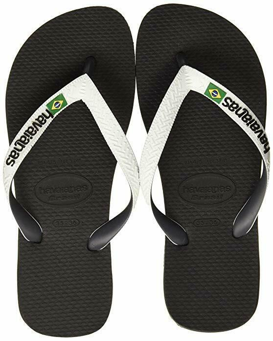 Capable Havaianas 4123206 Havaianas Brasil MÉlanger Fc Col Black-white Pratique Pour Cuire