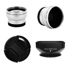 0.45x Wide,2x Tele lens, Hood 37mm for Olympus PEN E-PL3/E-P3/E-PL2E-PM1,14-42mm