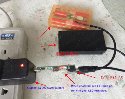 Mini 5V USB Charger Module for 2S 7.4V Lithium Li-ion Li-Po 18650 Battery Cell