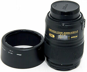 Nikon-Micro-Nikkor-60mm-F-2-8G-ED-AF-S-IF-SWM-Lens-Made-in-Japan-Like-New