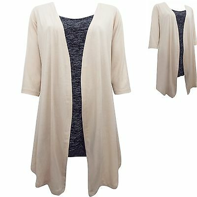 Ivans 16 18 20 22 24 26 28 30 32 Jersey 2 in 1 Layer Top INP Shop Plus Size New