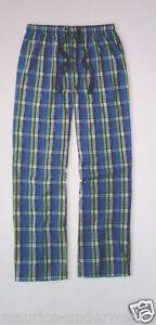 GOTZBURG-Schlafanzughose-Gr-XXL-56-Popelin-Pyjama-Hose-Canvas-blau-kariert