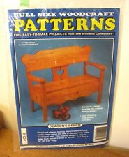 DEACON'S BENCH full-size wood-craft pattern Winfield project 11x 36 x 42 design