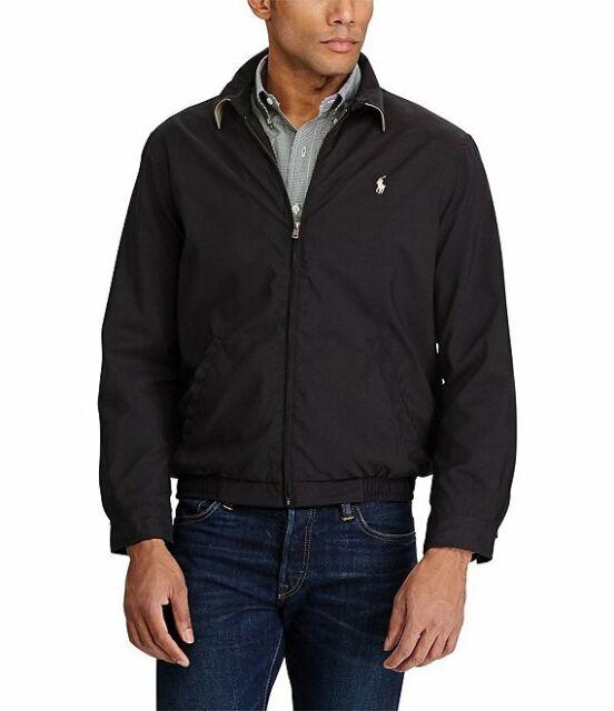 Polo Ralph Lauren Bi Swing Windbreaker Jacket Tall Black 2xlt Ship
