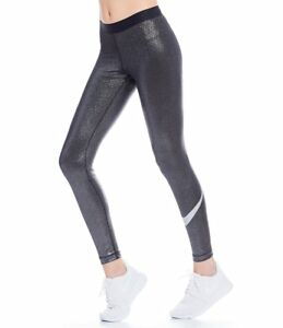 3d130a8ea768 NIKE PRO COOL WOMEN DRI-FIT WORKOUT SPARKLE TIGHT BLACK SILVER ...