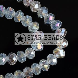 FACETED-RONDELLE-CRYSTAL-GLASS-BEADS-CRYSTAL-AB-4MM-6MM-8MM-10MM